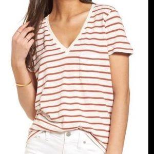 Madewell pocket tshirt striped